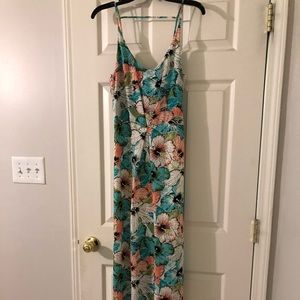 Tropical long maxi dress